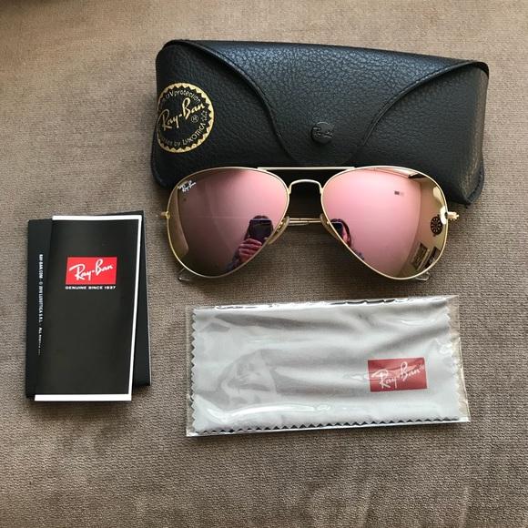 e0aa3c3d53c Authentic Copper Flash Ray-Ban Aviator Sunglasses